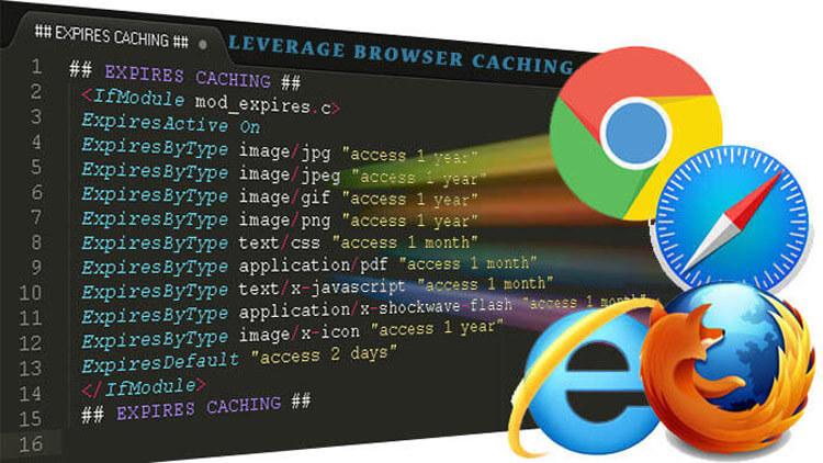 htaccess per sfruttare la memorizzazione nella cache del browser