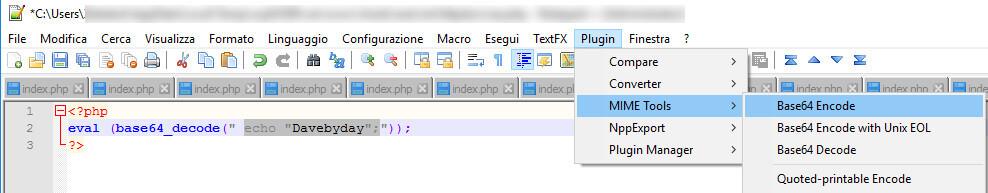 Encode e Decode dei nostri progetti in Base64